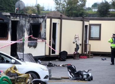 The scene of the Carrickmines fire.