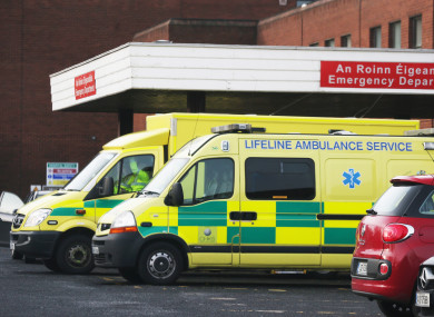 Outside the accident and emergency department at Beaumont Hospital in Dublin.