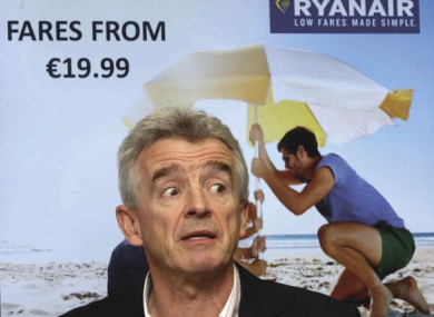 File photo of Ryanair CEO Michael O'Leary.