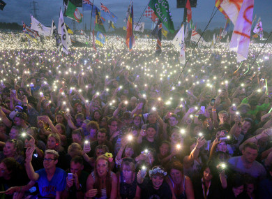 Ed Sheeran fans at Glastonbury - one of few festivals which seems to have beaten the touts