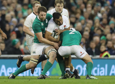 Vunipola playing Ireland in last year's Six Nations.