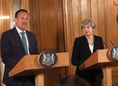 Prime Minister Theresa May with new Taoiseach Leo Varadkar