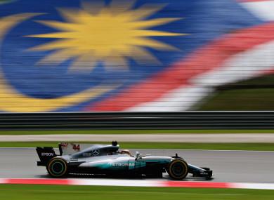 Lewis Hamilton at Sepang