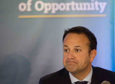 Taoiseach Leo Varadkar at Fine Gael's think-in in Clonmel today