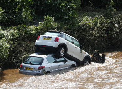 Cars washed into Derry's river Faughan