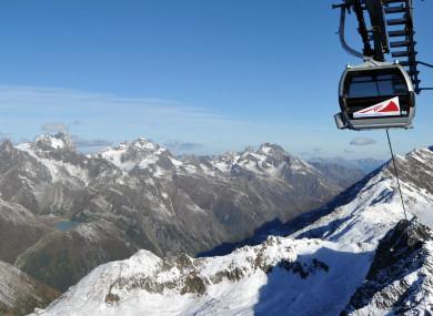 The Austrian Alps.