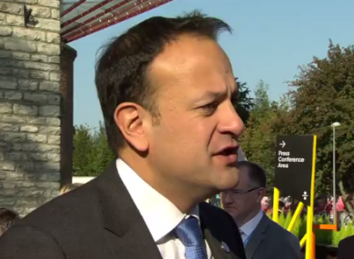 Taoiseach Leo Varadkar was speaking to reporters in Tallinn.