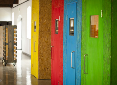 Phone booths at the Portershed space in Galway