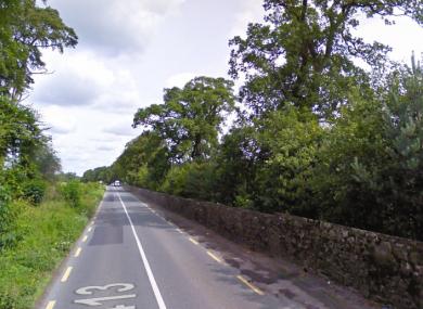 A stretch of the R413 near Nicholastown in Kildare.