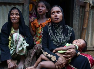 New Rohingya refugees arrive near a makeshift Refugee Camp in Bangladesh
