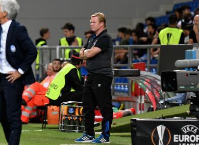 Everton manager Ronald Koeman.