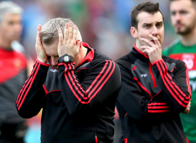 The Mayo manager at full-time.