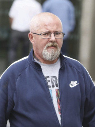 Alan McNamara, pictured, was sentenced to life imprisonment today for the murder of fellow biker Andrew O'Donoghue.