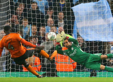 Claudio Bravo was Manchester City's hero against Wolves, saving two penalties in the shoot-out