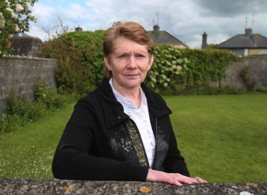 Catherine Corless at the site of the former mother and baby home in Tuam