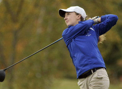 Emily Nash pictured on Tuesday at the Central Massachusetts Division 3 boys' golf tournament.