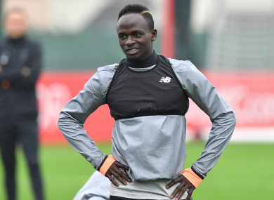 Mane picked up the injury while playing for Senegal.