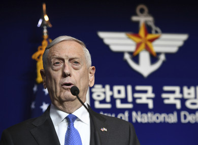US Defense Secretary said any attack on the United States or our allies will be defeated.