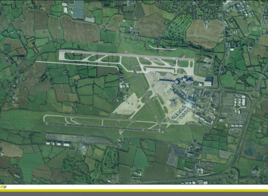 The proposed new runway.