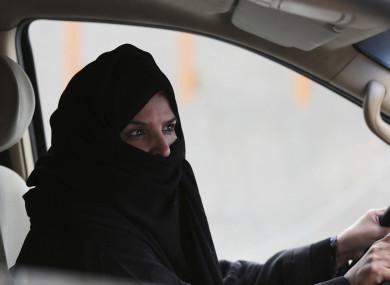 2014 file photo of a woman driving in Riyadh, Saudi Arabia.