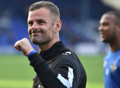 New Oldham Athletic manager Richie Wellens.