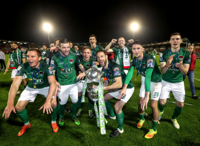 The Cork City players after winning the Premier Division last month.