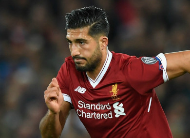 Emre Can was linked with a move to Juventus recently.