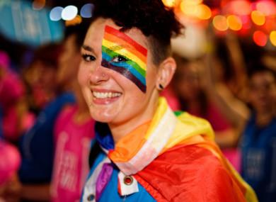 A participant at a gay pride parade in Sydney.
