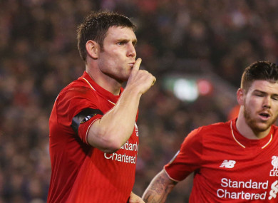 James Milner was preferred to Alberto Moreno at left-back for much of last season.