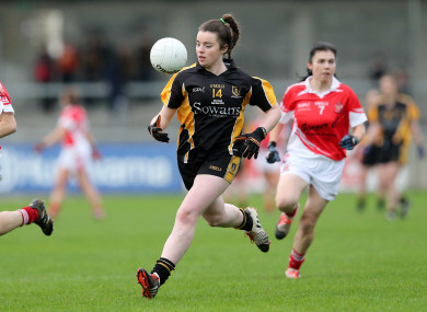 Laura Fitzgerald scored 2-3 to lead her side to next month's decider on 3 December.