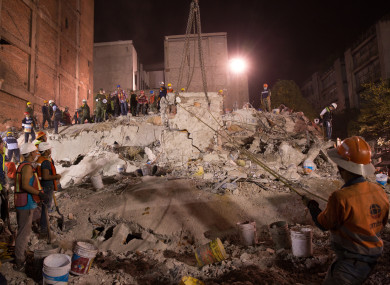 The earthquake that struck Mexico City on 21 September 2017 was 7.1 in magnitude.