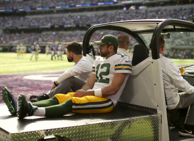 Aaron Rodgers after his injury.