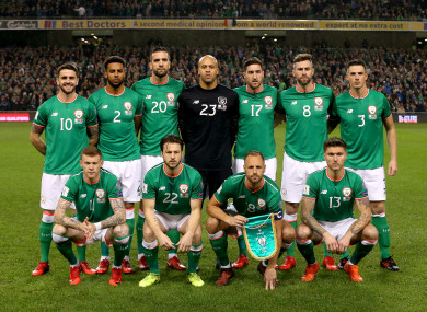 Republic Of Ireland Players Pose For A Group Photograph Ahead Last Night S Match Against Denmark