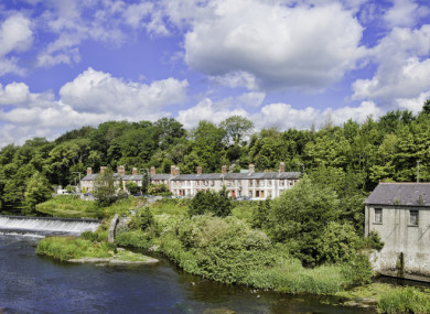 Looking across the river from Lucan Bridge