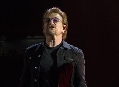 U2 during his band's Josua Tree 2017 tour.