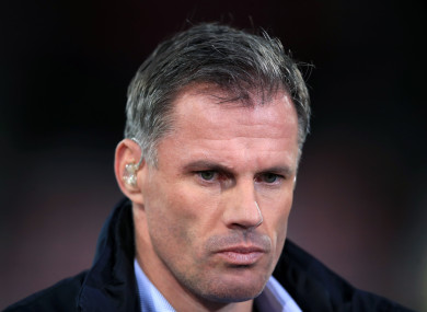 Jamie Carragher (file pic).