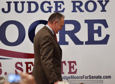 Roy Moore suffered a narrow loss in a State where Trump swept to victory last year.