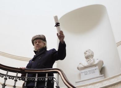 Geldof handed back his Freedom of Dublin award at City Hall in Dublin last month.