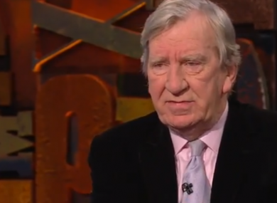 Tom McGurk speaking on RTÉ's Cutting Edge last year.