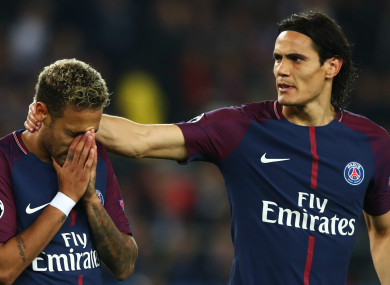 Neymar (left) and Edinson Cavani have not always seen eye to eye at PSG.