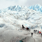 More than a hundred square miles of ice surround visitors on the Perito Moreno Glacier in Los GlaciaresNational Park.