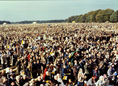 It is estimated over a million people attended the mass in the Phoenix Park by Pope John Paul II in 1979.