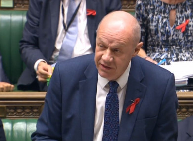 First Secretary of State Damian Green speaks during Prime Minister's Questions.