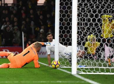 Kasper Schmeichel's error meant Leicester City went down 2-1 at Watford.