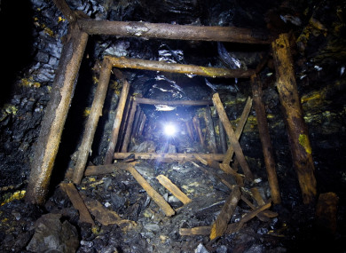 File photo: Old coal development in an abandoned mine