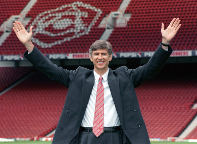 Wenger has been in charge of Arsenal since 1996.