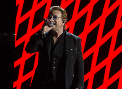 Bono was promoting his band's new album, Songs of Experience.