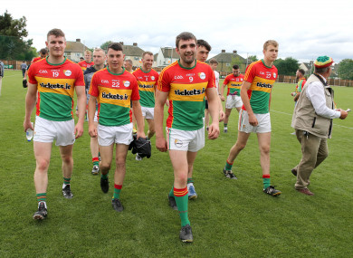Turlough O'Brien's Carlow side enjoyed an extensive championship campaign last year.