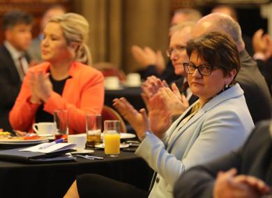 DUP leader Arlene Foster and Sinn Féin's NI leader Michelle O'Neill.