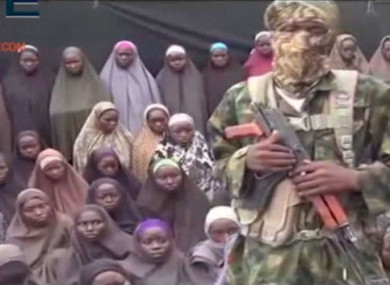 File photo from Boko Haram video purportedly showing some of the schoolgirls captured in Chibok